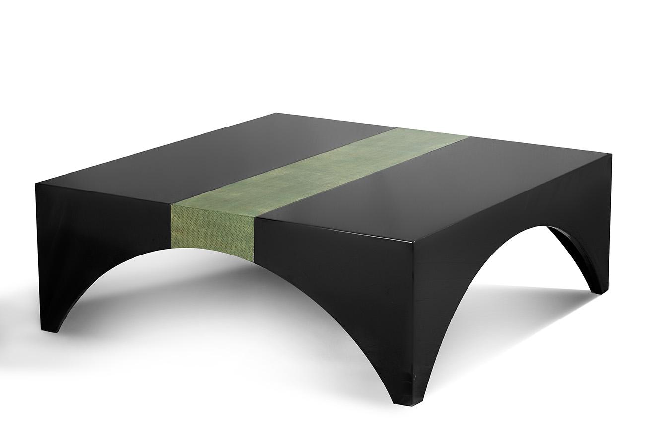 Unique low square coffee table